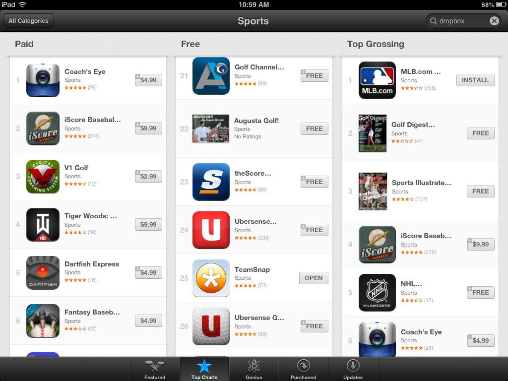 TeamSnap Updates iOS app, Makes iTunes List of Top 25 Free iPad Sports Apps