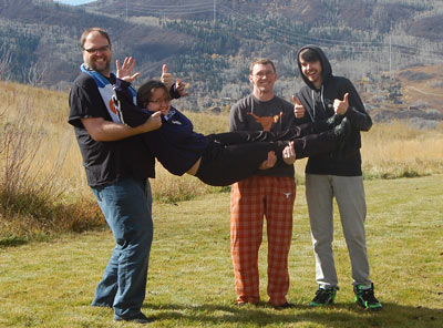 The TeamSnap Ops Team: Making TeamSnap safer, even in pajamas in the mountains.