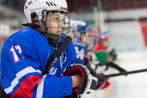 Hockey Player Closeup