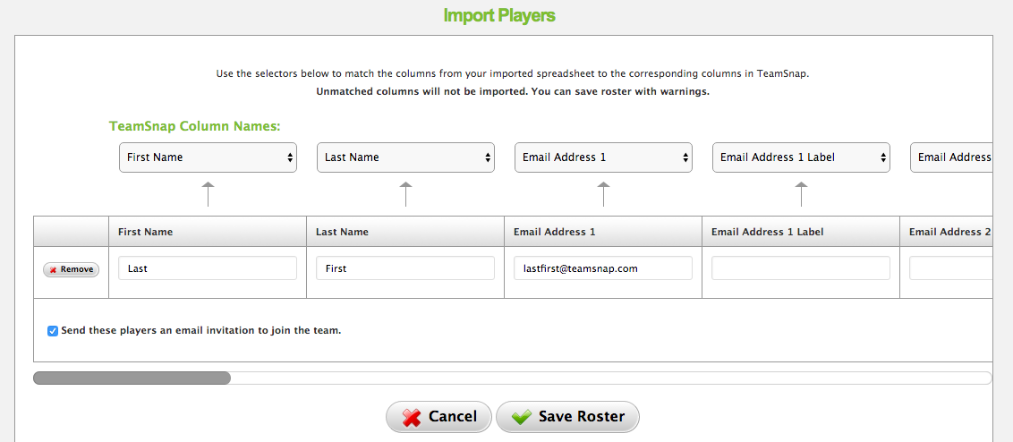Product Update: Importing Players from Another Team
