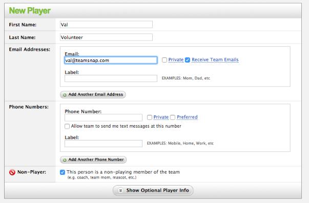 Using TeamSnap to Manage Volunteers