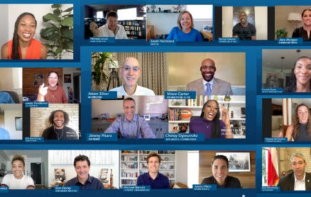 screenshot of a conference call